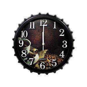 Relógio Tampa de Garrafa Café 32cm