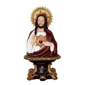 Resina Sagrado Coração de Jesus 29cm