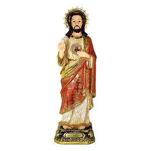 Resina Sagrado Coração de Jesus 40cm