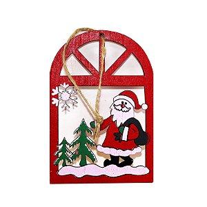 Pendente de Madeira Papai Noel