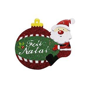 Pendente Feliz Natal Glitter