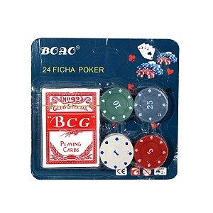 Fichas de Poker com Baralho