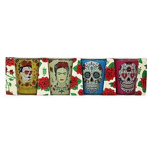 Jogo de Copos Shot Frida Kahlo