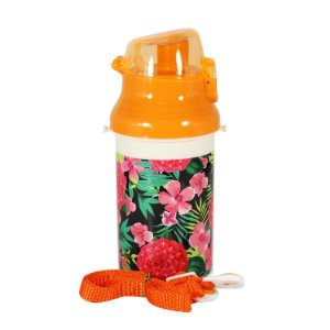 Garrafa de Plástico Floral