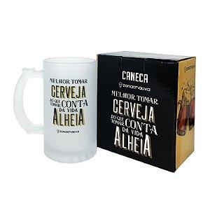 """Caneca Chopp """"Melhor Tomar Cerveja"""" 450ml"""