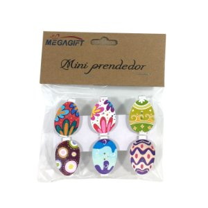Mini Prendedor Ovos Decorados