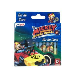 Giz de Cera 12 Cores Mickey