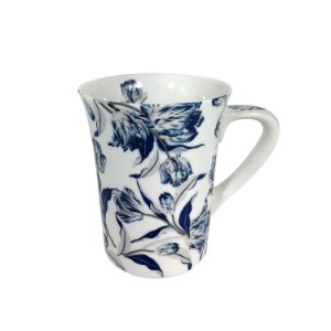 Caneca Cerâmica Flor Blue