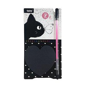 Bloco de Anotações Cat Black