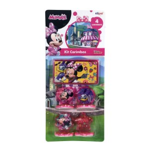 Kit 4 Carimbos Minnie