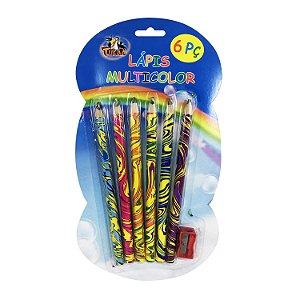 Kit 6 Lápis Multicolor