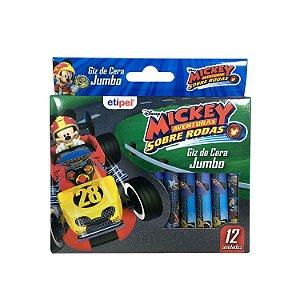 Giz de Cera Jumbo 12 Cores Mickey