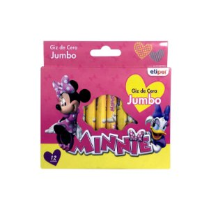 Giz de Cera Jumbo 12 Cores Minnie