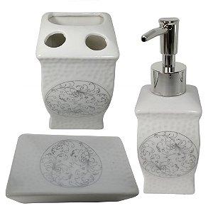 Jogo Banheiro com 03 peças cerâmica