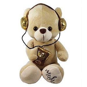 Pelúcia Urso com fone de ouvido