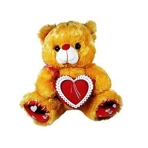 Pelúcia Urso Com Coração 32cm