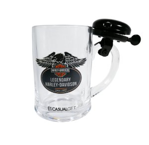 Caneca com Campainha 400ML Harley Davidson Casual Gift