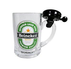 Caneca com Campainha 400ML Heineken Casual Gift