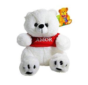 """Pelúcia Urso 25cm """"Amor"""""""