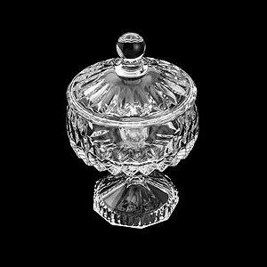 Potiche Decorativo de Cristal  Louise Transparente