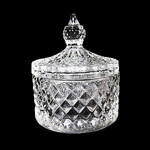 Potiche Decorativo de Cristal Dublin Transparente
