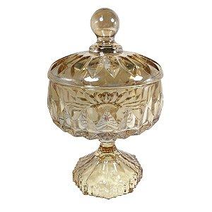 Potiche Decorativo de Cristal  Louise Lambar - cod. 35198