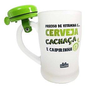 Caneca com Campainha 400ML Cerveja,Cachaça e Caipirinha