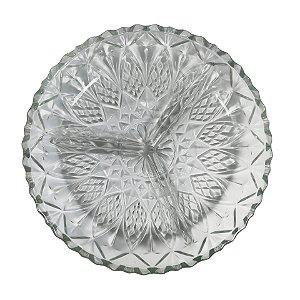 Petisqueira de Vidro com 3 Divisória - cod.P40-9