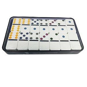 Jogo de Dominó 6 Cores 28 Peças