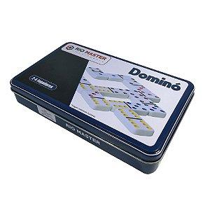 Jogo de Dominó de Melamina 28 Peças Colorido - cod.5211T