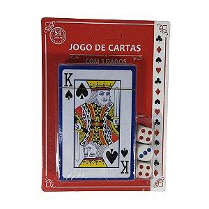 Jogo de Cartas com 3 Dados