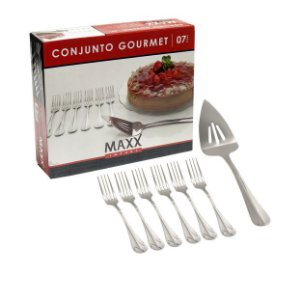 Conjunto Gourmet 07 Peças Espátula e Garfos