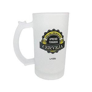 """Caneca Chop """"Tomando Cerveja"""" 450ml"""