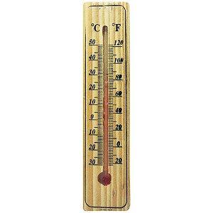 Termômetro Ambiente em Madeira 15cm - Wellmix