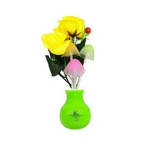 Luminária de Parede Vaso de Flores