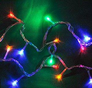 Pisca-Pisca 100 Lâmpadas LED Color fio Verde 8F