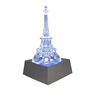 Enfeite Torre de Plástico com Led Possui 3 Cores