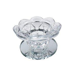 Castiçal de Vidro Transparente 4cm