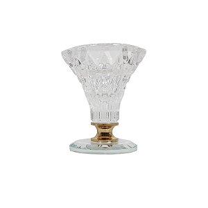 Castiçal de Vidro Transparente 7cm