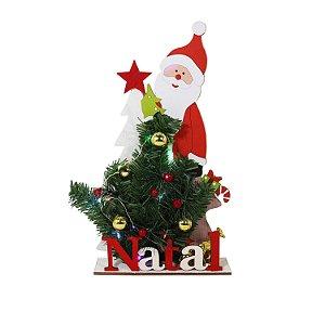 Enfeite de Mesa Natal com Pisca Pisca Colorido
