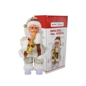 Enfeite Papai Noel Musical com Movimento 30cm