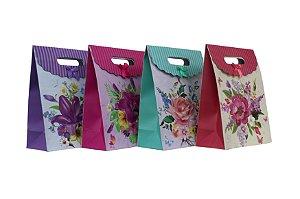 Sacola de Presente Floral P