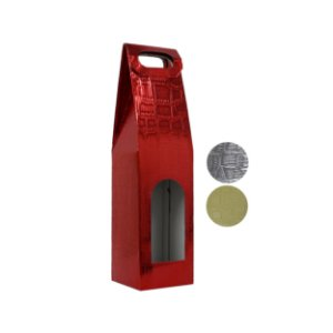 Sacola de Presente 38x9,5x9cm P/ Garrafa