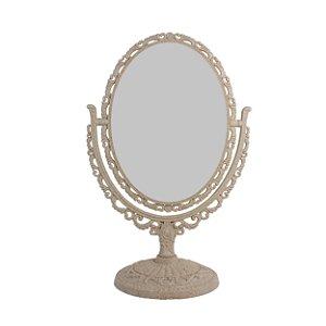 Espelho Oval com Moldura de Plástico