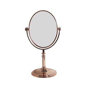 Espelho Oval com Moldura de Metal