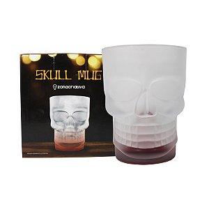 Caneca Caveira Skull Mug com Base Vermelha