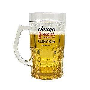 Caneca de Plástico Shopp 400ml Amigo da Cerveja