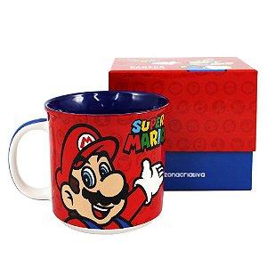Caneca de Cerâmica Tom 350ml Super Mario