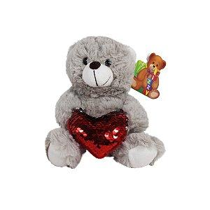 Pelúcida Urso com Coração 18cm