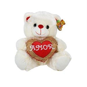 Pelúcia Urso com Coração 33cm